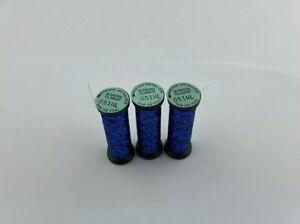 Lot Of 3 Kreinik 051HL Sapphire High Lustre Blending Filament Thread Floss
