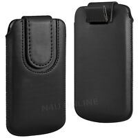 Magnetic PU Leather Pull Tab Flip Case Cover Pouch For Alcatel Phones