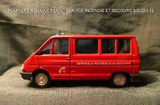 POMPIERS RENAULT TRAFIC SERVICE INCENDIE ET DE SECOURS SOLIDO 12. 1/50