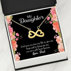 to My Daughter God Sent You to Dad Infinity Love Necklace Heartfelt daughter Car
