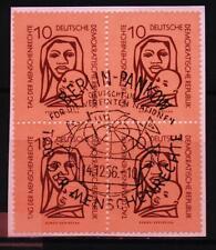 """DDR MiNr 549 Viererblock """"Tag der Menschenrechte"""" Afrikanerin mit Kind -UNO-"""