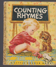 Counting Rhymes Little Golden Book 5th Print Corinne Malvern