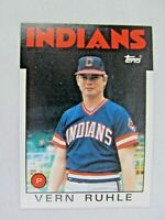Vern Ruhle Cleveland Indians 1986 Topps Baseball Card Number 768