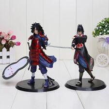 2 Stk Naruto Uchiha Statue Figur Anime Madara Sasuke Action Sammler Film Figuren