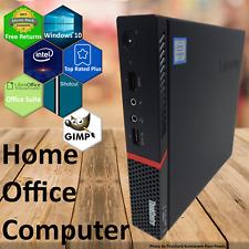 Lenovo Mini Micro PC Tiny Desktop Intel i5 6th Gen 8GB RAM 240GB WiFi Win 10 Pro