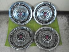 "67 68 69 70 71 72 Pontiac Wire Spoke HUBCAPS 14"" Set of 4 Wheel Covers"