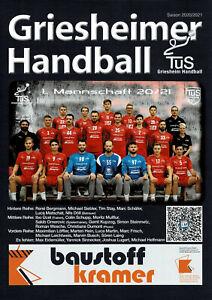 TUS Griesheim HANDBALL Saison 2020/2021 2020/21-Heft DNA4-