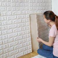 3D DIY Mousse PE Autocollant Mural Mur Maison Rétro Décor En relief Brique