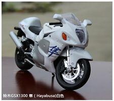 Maisto 1/12th Suzuki Hayabusa  Collectible Motorcycle Model KING OF SPEED White