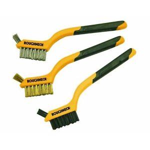 Roughneck ROU52005 Mini Wire Brush (set of 3) 1 set of 3