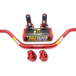 "Pro Handlebar PRO Taper Pack Fat Bar 1-1/8"" Dirt Pit Bike Motocross Motorcycle"