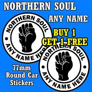 Northern Soul - Auto / Finestrino Adesivi Personalizzato + 1 Gratuito