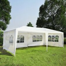 3 x 6m Four Sides Waterproof Foldable Tent White Outdoor Party Camp Canopy
