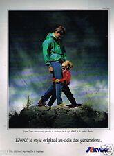 Publicité advertising 1991 Les Manteaux Vestes K Way