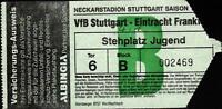 Ticket BL 86/87 VfB Stuttgart - Eintracht Frankfurt, 22.11.1986