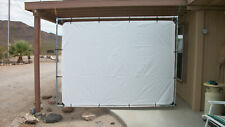 """6' x 8' OUTDOOR HANGING HOME THEATER PROJECTION MOVIE SCREEN KIT ~ 3/4"""" Fittings"""