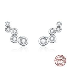 Long Stud Earrings Pandora's Kings 100% 925 Sterling Silver Shiny Bubble
