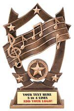 MUSIC KARAOKE  THREE DIMENSIONAL TROPHY RESIN AWARD FREE LETTERING MSSR12