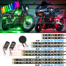 LEDGLOW 8pc Advanced Million Color LED SMD Motorcycle Lights - LU-MC-ADV-M-8