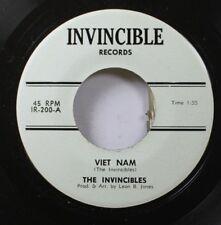 Hear! Surf Garage Unknown 45 The Invincibles - Viet Nam / Tonda On Invincible