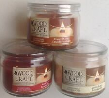 Set of 3 Candles by Woodcraft in glass jars 85g each