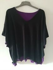One Size Plus Black Batwing Top 20 22 24