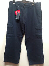 "BROOKER MENS PRECISION DENIM NAVY CARGO PANTS TROUSERS   W38"" L27""     BNWT"