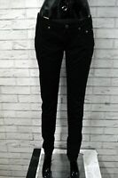 Jeans JECKERSON Donna Taglia 28 / 42 Pantalone Nero Pants Woman Regular