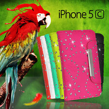 Glitter Wallet Flip Leather Case Cover For iPhone 5c 5 c + Screen G BLING Fancy