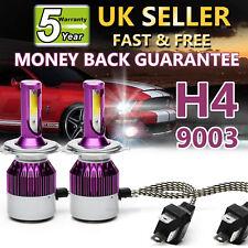 H4 9003 HB2 Car LED Headlight Bulbs High&Low Beam 80W 9000LM 6000K White Bright
