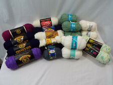Lot of 22 Vintage & New Yarn Skeins Knitting Variety of Colors + Brands