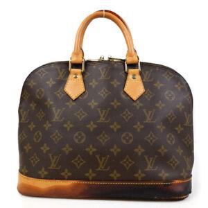 LOUIS VUITTON Alma PM Handbag Monogram Brown M51130