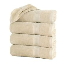 Set of 4 OffWhite Beige Large Bath Towel Sheets Pack 100% Cotton 27