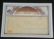 2009 SP Legendary Cuts JOHNNY MIZE Very RARE Signed John Mize Auto True #ed 1/1