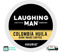 Laughing Man Colombia Huila Coffee Keurig K-cups YOU PICK THE SIZE