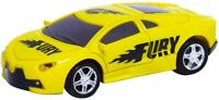 RC Pocket Racers Remote Control Rechargeable Vehicle Micro Race Cars Fury Yellow