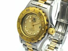 TAG HEUER Watch 3000 935.408  New Battery Quartz 18K Gold Plated Date   T1316