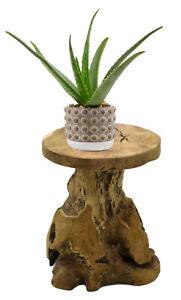 Teak Hocker Sitzhocker Blumenhocker Beistelltisch Nachttisch Pflanzen Podest