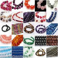 16 Inch Semi Precious Gemstone Beads 10mm 12mm Round Beads