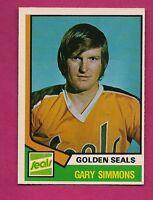 1974-75 OPC # 371 GOLDEN SEALS GARY SIMMONS GOALIE ROOKIE NRMT CARD (INV#6509)