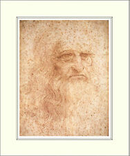 Leonardo Da Vinci Self Portrait 10 x 8 Inch Mounted Art Print