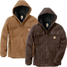 Carhartt 102285 Sandstone Barlett Mens Hooded Work Jacket Dark Brown M