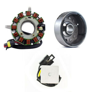 Stator + Voltage Regulator + Flywheel For Ski Doo Tundra 280 R 250 II 1998-2005