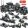 715pcs City Police Station Building Blocks Legoingly City SWAT Team Truck Blocks