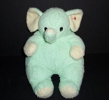 TY BABY Plush ELEPHANTBABY Green Elephant 2000 Pillow Pals Rattle Stuffed