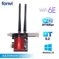 FV-EAX3000R Wifi 6E Card Dual Band Intel AX210 PCIe Network card Bluetooth 5.2