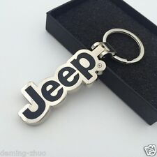 Car Keychain Single Side Logo Pendant Key Chain keyRing For jeep Free Shipping