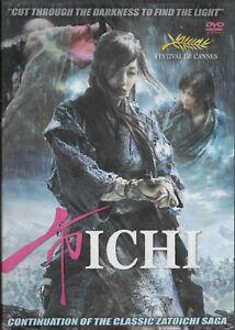Ichi Japanese female Zatoichi blind sword fighter DVD FAST FREE SHIPPING !!!