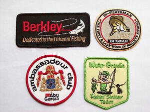 4 VINTAGE EMBROIDERED FISHING PATCHES #2