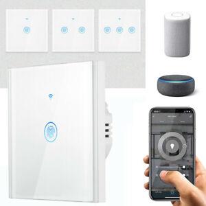 Smart WiFi Schalter Touch Lichtschalter Touchscreen APP Alexa echo Google Wlan